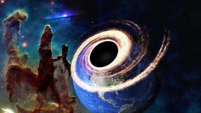 Somewere черной дыры в космосе Элементы этого изображения были поставлены NASA стоковые фотографии rf