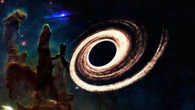 Somewere черной дыры в космосе Элементы этого изображения были поставлены NASA стоковые изображения
