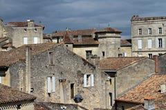 Somewhere around Bordeuax. A small city of Saint Emilion, France Stock Photos