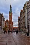 Somewhere in the old town in November Gdańsk. Somewhere in a beautiful old town in November Gdańsk Stock Photography
