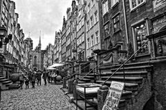 Somewhere in the old town in November Gdańsk. Somewhere in a beautiful old town in November Gdańsk Royalty Free Stock Photos