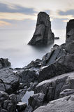Somewhere in the Black Sea. Rocks in the Black Sea coast royalty free stock photo