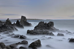 Somewhere in the Black Sea. Rocks in the Black Sea coast stock images