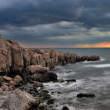 Somewhere in the Black Sea. Rocks in the Black Sea coast royalty free stock image
