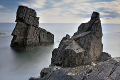 Somewhere in the Black Sea. Rocks in the Black Sea coast stock photo