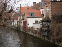 Somewhere in Bruges in the autumn Stock Photography