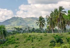 Somewhere in the Dominican Republic. Mountainous landscape somewhere in the Dominican Republic stock photography
