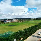 Somewhere @ highway. Cricket ground college love Nature love royalty free stock photography
