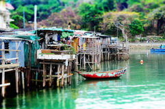Somewhere in Hong Kong. Ma Wan Royalty Free Stock Image