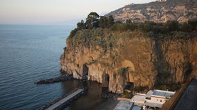 Somewhere in Italy. Italian Mediterranean cost, February, end of the day royalty free stock photography