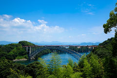 Somewhere in Japan. With a bridge and river Stock Images