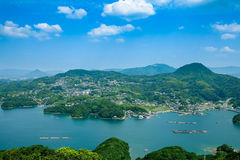 Somewhere in Japan. With sea and island Royalty Free Stock Photo