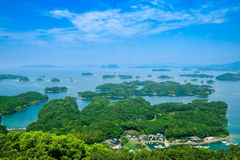 Somewhere in Japan. With sea and island Stock Image