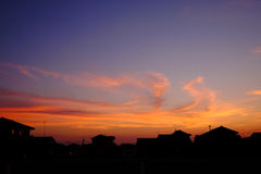 Somewhere in Japan. With a sunset Royalty Free Stock Photography
