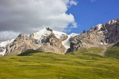 Beautiful landscape in mountains. Somewhere in mountains of Kyrgizstan Royalty Free Stock Photography