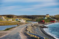 Somewhere in Newfoundland. St. John`s, Newfoundland and Labrador, Canada stock photography