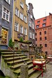 Somewhere in the old town in November Gdańsk. Somewhere in a beautiful old town in November Gdańsk Stock Images