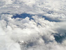 Somewhere over the Alps. Stock Image