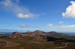Somewhere over the oceans and mountains. Magical views in southern parts of Western Australia Stock Image