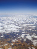 Somewhere over the Spain. View from the airplane window Royalty Free Stock Images