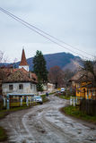 Somewhere in romania. Small romanian town royalty free stock images
