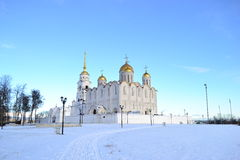 Somewhere in Russia. Russian church in Vladimir city stock photography