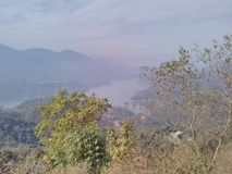 Somewhere between Shimla to Manali. A beautiful view of lake royalty free stock image