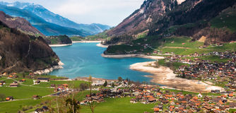 Somewhere in Switzerland. Beautiful village on the road to Switzerland Royalty Free Stock Photos