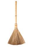 Słomiany broomstick odizolowywający na białym tle Obrazy Royalty Free