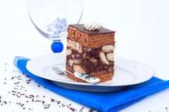 Somló sponge Cake. From hungary Royalty Free Stock Photos