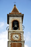 Somma lombardo  ll  and church tower bell sunny day Royalty Free Stock Photos