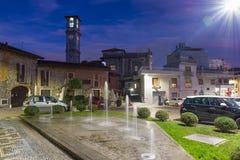 City of north Italy. Somma Lombardo, historic center stock image