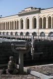 Somma Lombardo varese Italien 6. Mai 2018 Wasserkraftwerkstation auf Canale Villoresi lizenzfreie stockbilder
