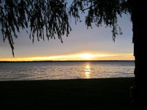 Sommar över den Grosse ön Michigan Arkivbild