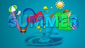 Sommar stock illustrationer