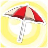 Sommar Art Series 3 - paraply Arkivbild