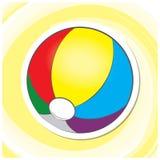 Sommar Art Series 1 - strandboll Arkivfoto