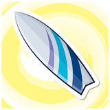 Sommar Art Series 10 - surfingbräda Royaltyfri Fotografi