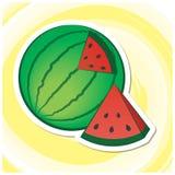 Sommar Art Series 11 - vattenmelon Arkivfoton