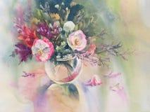 Sommar blommar vattenfärgen Royaltyfria Bilder