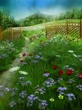sommar för 2 äng royaltyfri illustrationer