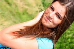 sommar för 20 flicka Arkivfoto