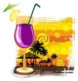 sommar för bakgrundscoctailexponeringsglas Royaltyfri Bild