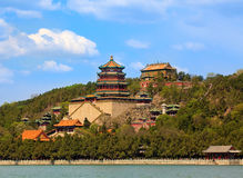 sommar för beijing porslinslott Arkivbilder