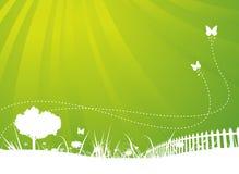 sommar för fjäder för bakgrundsfjärilar trädgårds- vektor illustrationer