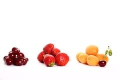 sommar för fruktingredienssallad Arkivfoton