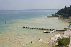 sommar för gardaitaly lake royaltyfria bilder