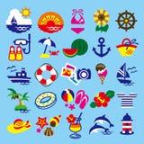 Sommar för gemkonst royaltyfri illustrationer
