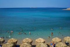sommar för greece helig lookberg Fotografering för Bildbyråer