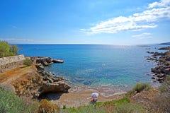sommar för greece helig lookberg Arkivfoto